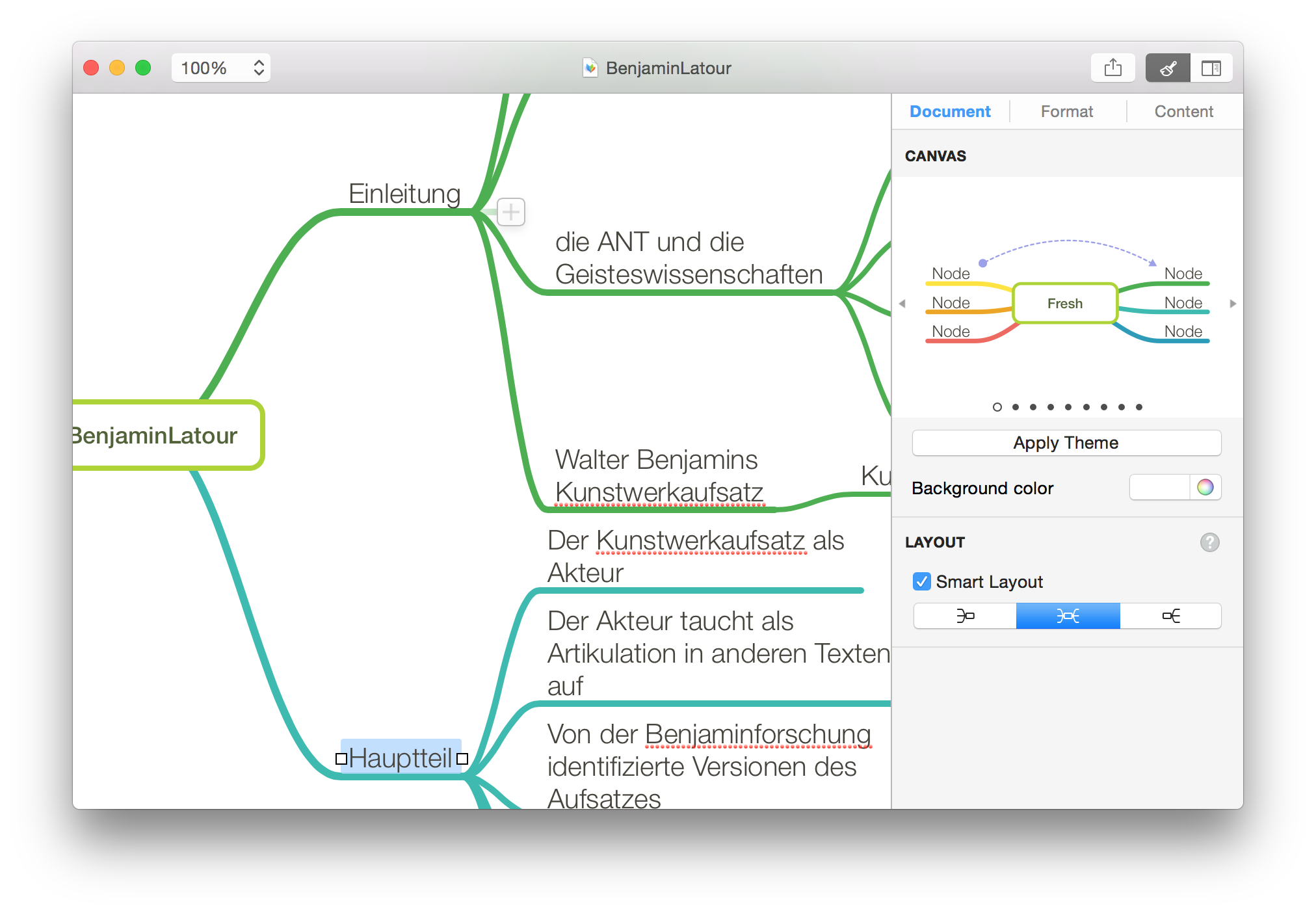 Schnell schöne Mind Maps mit Mindnode auf dem Mac und dem iPad
